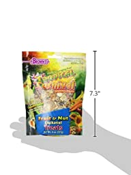 F.M. Brown\'s Tropical Carnival Fruit and Nut Cockatiel Conure and Lovebird Pet Treat, 8-Ounce