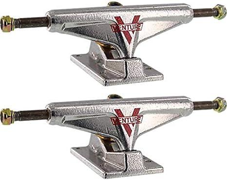 5.25 Hanger 8.0 Axle Set of 2 Venture Trucks Trent McClung Team V-Lights Low White//Black Skateboard Trucks