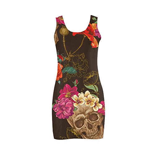 Customizable Morphsuits (Women's Sugar Skull Dia De Los Muertos Polyester Casual Vest Dress XL)