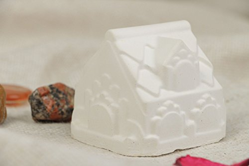 Handmade plaster craft blank figurine of house for painting art supply