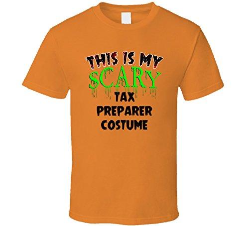 This is My Scary Tax Preparer Halloween Cool Trending Job T Shirt XL Orange