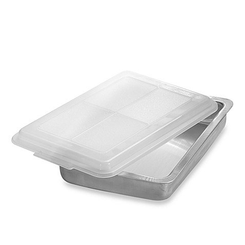 AirBake Ultra 9-Inch x 13-Inch Insulated Covered Aluminum Cake Pan (2 SET)