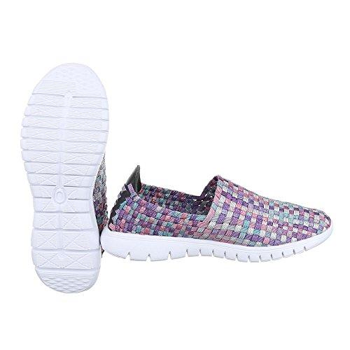 Ital-Design - Zapatillas de casa Mujer Lila Multi DSC002-12