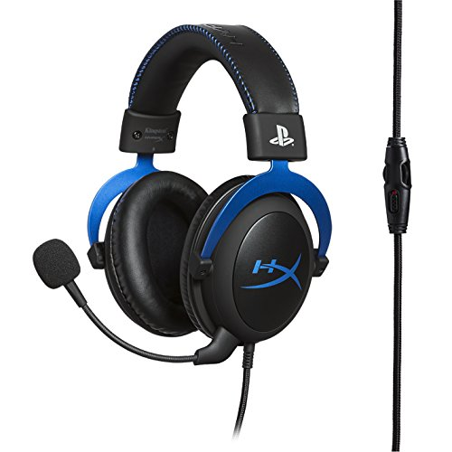 HyperX Cloud Gaming Headset - Playstation 4 - Officially Licensed Sony Interactive Entertainment LLC PS4 Systems - Black/Blue (HX-HSCLS-BL/AM) by HyperX (Image #2)