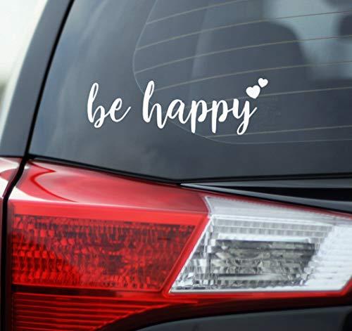 Blue Giraffe Happy Car Decal product image