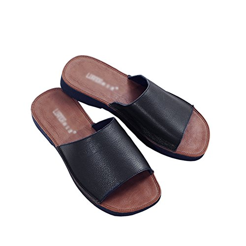 UK4 Negro Playa PENGFEI Zapatillas EU35 Color 5 Mocasín Pantofola Hembra Suave Plano Verano US5 Fondo 3 Colores 225 Blanco Fondo Tamaño wRawq
