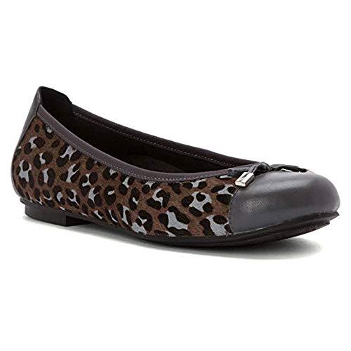 Grey Ballet Women's Minna Spark Leopard Flat Vionic wOqUf6x0U