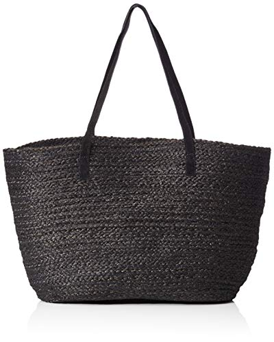 Pcgracia Shopper Black Women's Straw Black Shoulder Bag Pieces Black 5qtBAB