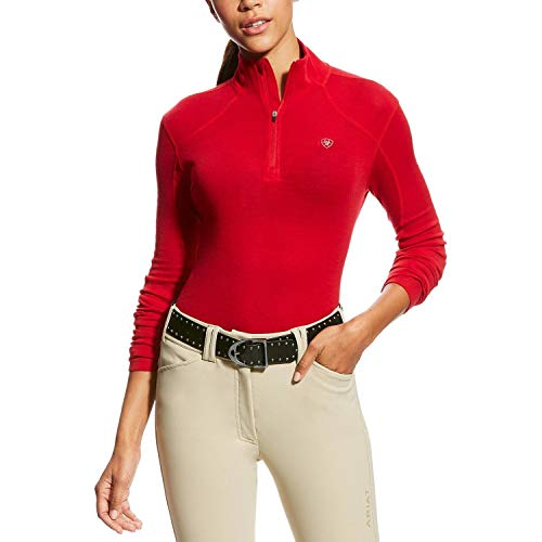 Ariat Cadence Wool Quarter Zip - Salsa (Medium) -