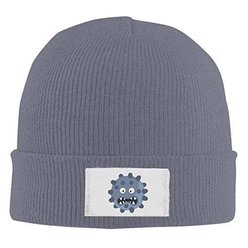 HR Adult's Blue Ball with Pimples Elastic Knitted Beanie Cap Winter Warm Skull Hats (Best Supplement For Pimples)