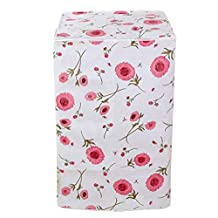 Vosarea Washing Machine Cover Front Load Automatic Washer Dryer Cover Waterproof Dustproof Anti-Splash 56x60x82cm (Flower Pattern)