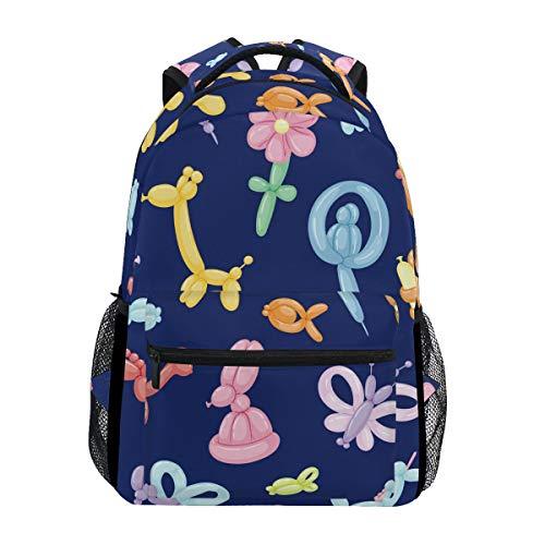 Balloon Animals School Backpack Large Capacity Canvas Rucksack Satchel Casual Travel Daypack for Adult Teen Women Men Chirldern]()