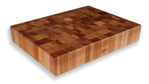 Professional End Grain Cutting Board (Maple End Grain Chopping Block 20 x 15 x 3)