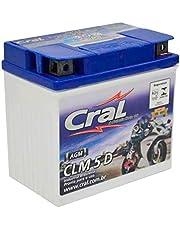 Bateria Moto 5A 12V Selada Cral Polo Positivo Direito