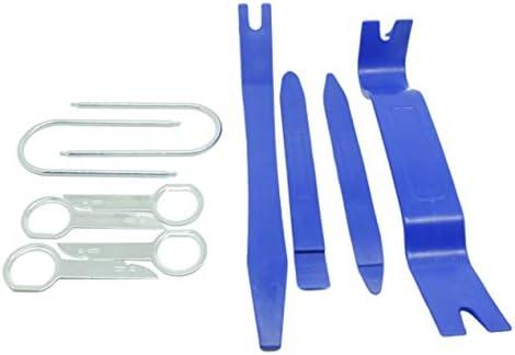 カーオーディオ分解ツール10個セットセントラルコントロールドア内部の取り外し10個セットCD分解ツール10個セット-ブルー