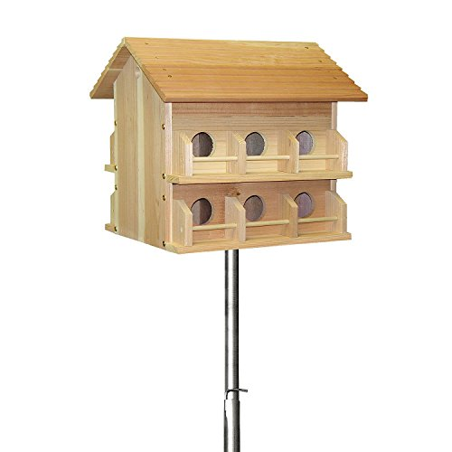Heath Outdoor Products 15' Telescoping Purple Martin House Pole Kit with Deluxe Cedar House