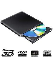 External Blu Ray DVD Drive Writer 3D 4K,Bluray Player Opitical DVD CD Burner Recorder Compatible for Mac OS iMac PC Windows