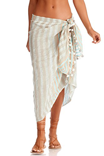 Vitamin A Women's Paradise Bay Print Pareo Swim Cover Up Paradise Bay One by Vitamin A