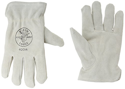 Lined Drivers Gloves, Suede Cowhide, Large Klein Tools 40014