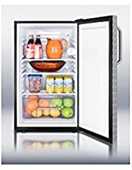 Summit FF521BLBIDPL Refrigerator, Silver With Diamond Plate