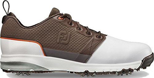 FootJoy Men's ContourFIT-Previous Season Style Golf Shoes White 9.5 W Brown, US