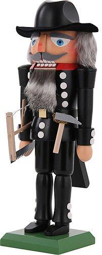 German Christmas Nutcracker Carpenter - 29cm / 11 inch - Dregeno Seiffen by Authentic German Erzgebirge Handcraft (Image #2)