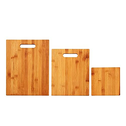Kitchen Cutting Board   Bamboo Cutting Boards   3 Piece Set   Organic Eco  Friendly Wood Cutting Board U0026 Serving Board   For Meat, Vegetables, Fruit U0026  Cheese