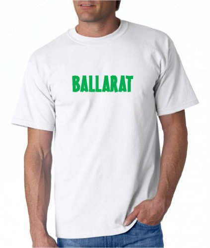BALLARAT - Green Lettering - City-series - White T-shirt - size - Ballarat Kids