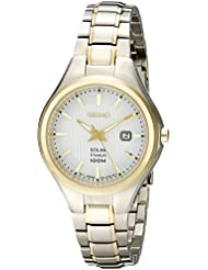 Seiko Womens SUT206 Analog Display Analog Quartz Two Tone Watch