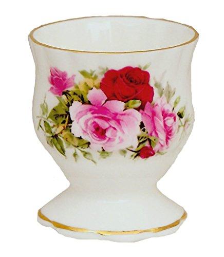 Summertime Rose Egg Cup - Fine English Bone China