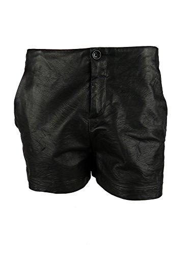 Cheap Raquel Allegra Womens Leather Front Silk Zip Fly Dress Shorts