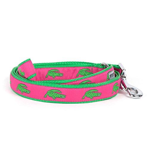- The Worthy Dog   Green Alligators Lead   Designer Pet Dog Leash , Pink, 5/8