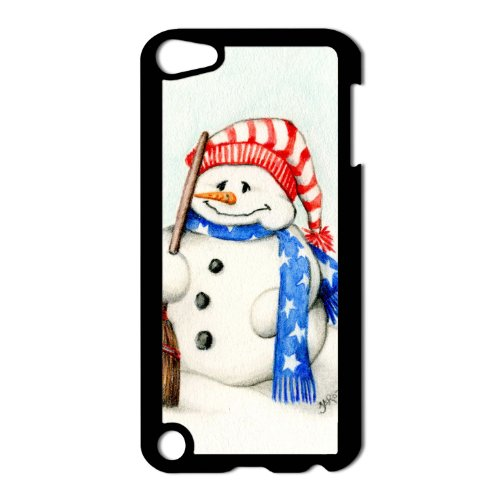 - Patriotic Snowman Apple iPod Touch 5th Gen Black Hard Case Original Christmas Art