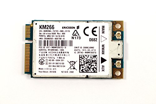 Dell Wireless 5530 HSPA 3G GPS Mini-Card WWAN Ericsson F3507G C687R E6500 E6400 by Dell