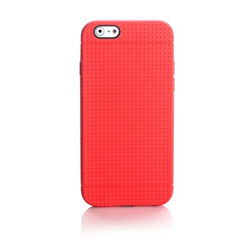 ArktisPRO Coque de protection toucher antidérapant pour Apple iPhone 6 Rouge
