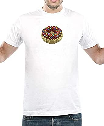 IngraveIT White Cotton Round Neck T-Shirt For Men