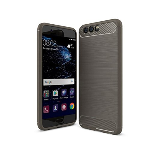 Funda Huawei P10,Funda Fibra de carbono Alta Calidad Anti-Rasguño y Resistente Huellas Dactilares Totalmente Protectora Caso de Cuero Cover Case Adecuado para el Huawei P10 B