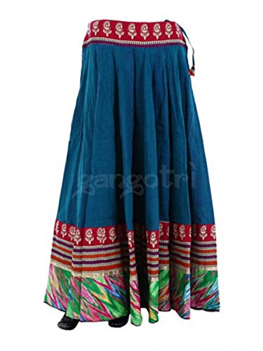 Women Cotton Skirt 40 Panel Navy blue