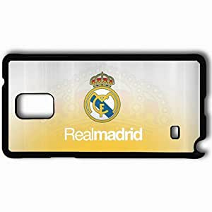 Personalized Samsung Note 4 Cell phone Case/Cover Skin 2013 Real Madrid Logo Football Black