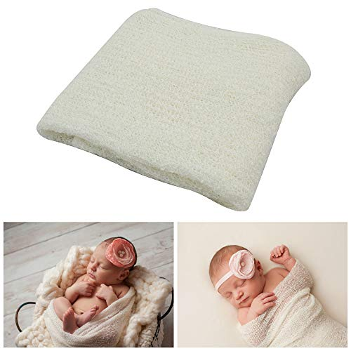 Price comparison product image JLIKA Newborn Baby Photography Photo Prop Stretch Rayon Wrap (Ivory)