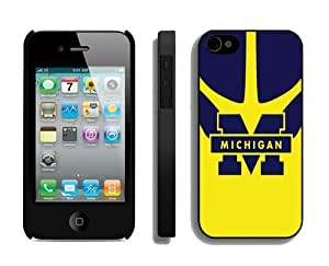 Cool Element Iphone 4 4s Case Cover Hit Color Stitching Ncaa Michigan Wolverines Team Logo for Guys by icecream design