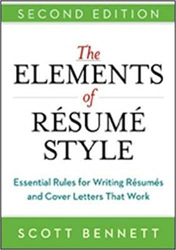 the elements of resume style essential rules for writing resumes and cover letters that work scott bennett 9780814433935 amazoncom books