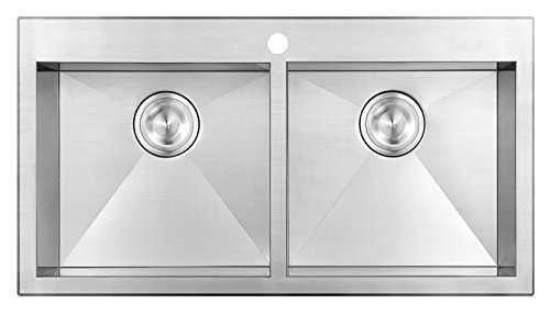 "Ommaren Series 953135 - 32"" Topmount Double Sink, 18 gauge"