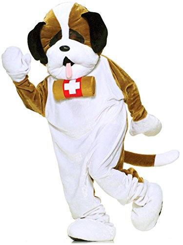 Forum Deluxe Plush Dog Mascot St Bernard Costume, Brown, One Size