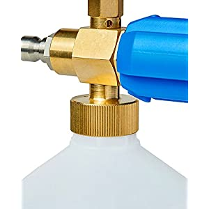 "Installer Champ Foam Blaster Gun - 1L Lance Cannon, 1/4"" Quick Connector w/Soap Measurement (mL) & Pressure Dial - LeakProof Warranty"