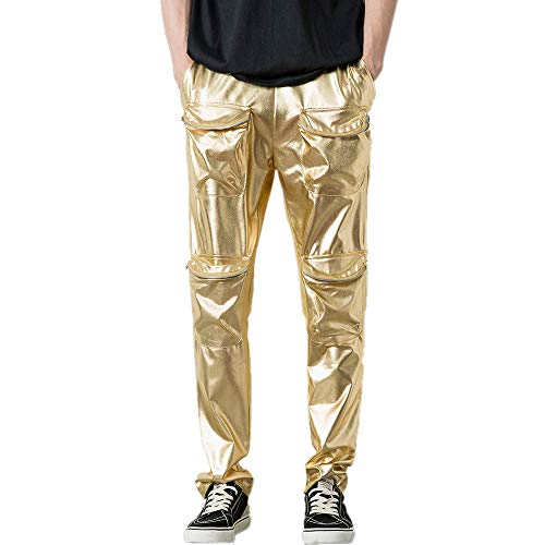 e0b8be84a177 Toimothcn Reflective Pants Men Hip Hop Dance Fluorescent Trousers Casual  Harajuku Night Sporting Jogger Pants (