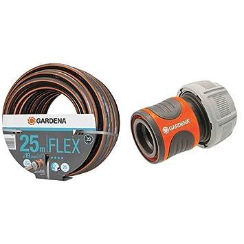 GARDENA Comfort FLEX Schlauch 19 mm stufenlos regelbar 25 m: Formstabiler geeignet f/ür 19 mm-Schl/äuche 25 bar Berstdruck /& Profi-System-Spritze: Gartenspritze mit gro/ßer Durchflussmenge
