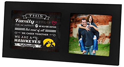 "KH Sports Fan 1003100271 16""X8"" Iowa Hawkeyes Family Chee..."