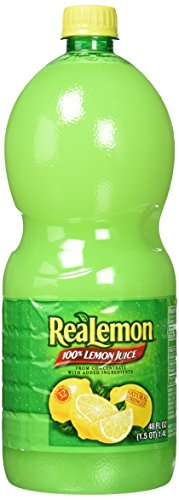 ReaLemon 100% Lemon Juice -48 Fl Oz btls. by ReaLemon [Foods], Pack of 2