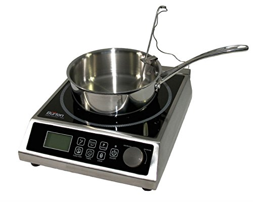 Max Burton 6515 Digital ProChef-1800 Induction Cooktop, Digital Controls, 10 Adjustable Watt and 15 Temperature Settings, Timer, Program Lock, Programmable Cooking, 1800W, 120V ()